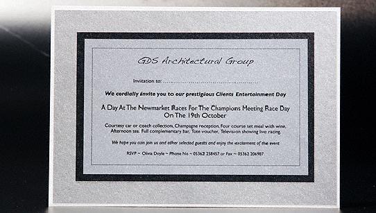 Large business invitation cards corporate invitation cards large flat silver corporate invitation stopboris Images