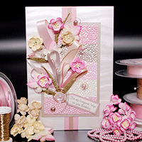Cherry Blossom Hand Made Birthday Card