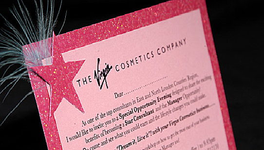 Pink Star and Feather Business Invitation Cards Corporate – Corporate Invitation Card