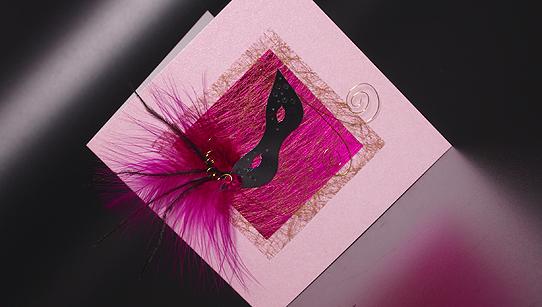 Masquerade Sweet Sixteen Handmade Invitation