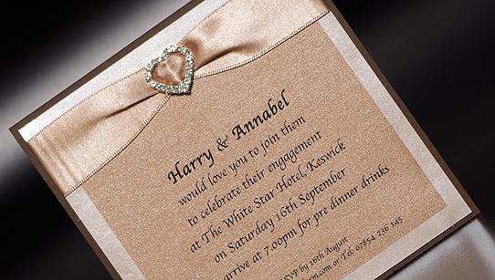 Heart Hand Made Party Invitation