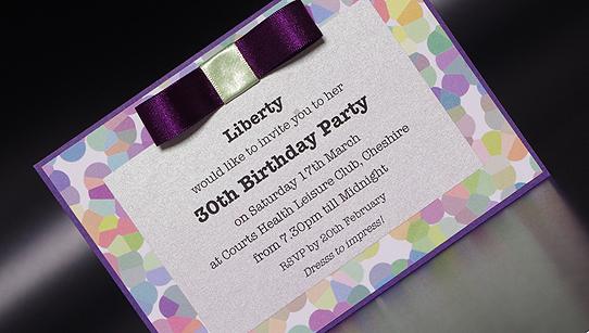 liberty hand made birthday party invitation