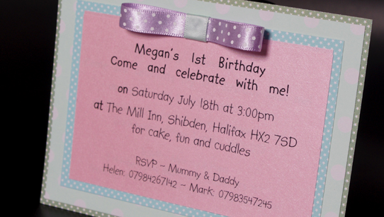 Pastel Hand Made Party Invitation