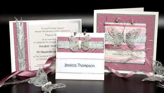 Butterfly Handmade Wedding Invitations