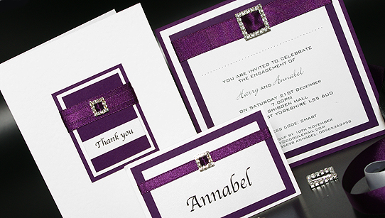 Diamante Handmade Wedding Invitation Samples